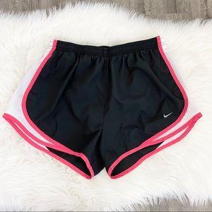 Nike Black Pink Dri-Fit Running Shorts
